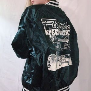 Vintage Florida Bomber Racing Jacket